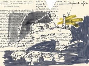 Marie Tijou - papier journal