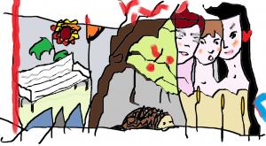 banc de jardin les trois grâces