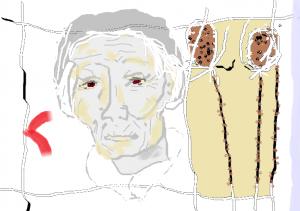 vieille femme chardons