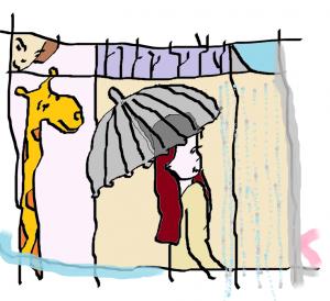 parapluie girafe